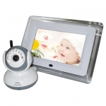 7-Inch LCD Screen Wireless Baby Monitor Camera System with Audio Detection