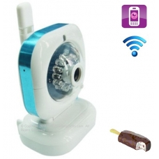 Ice Cream H.264 Pan-Tilt Wifi Wireless Baby Camera with Motion Detection Mobile View and 2-Way Audio