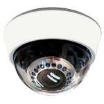 420TVL 1/4 Sharp CCD 2.8-12mm Varifocal Indoor IR Day/Night CCTV Dome Camera with BLC, AES and 3-Axis Bracket