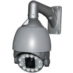 6.9-Inch 530TVL Outdoor / Indoor 36X Zoom Speed Dome PTZ CCTV Camera with Powerful IR and OSD Menu
