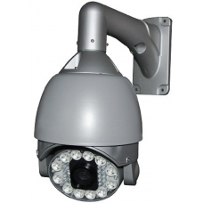 6.9-Inch 540TVL Outdoor / Indoor 26X Zoom Speed Dome PTZ CCTV Camera with LED Array and OSD Menu