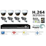 Combo 600TVL 8 ch channel CCTV Camera DVR Security System Kit Inc H.264 Network Mobile Access DVR and All-Weather 4-9mm IR Bracket Camera 500GB HDD