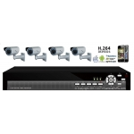 600TVL 4CH channel CCTV DVR Kit Inc. H.264 Network DVR with Mobile Viewing and Waterproof IR 20M Bullet Bracket Cameras with OSD Menu and Integrate Bracket NO Hard Drive or Cable