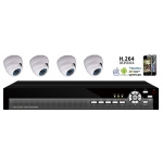 420TVL 4 Camera CCTV Camera DVR Kit with Mobile and Internet Access Inc. IR Camera Network DVR and 500G Seagate Hard Drive