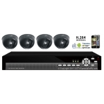 420TVL 4CH channel CCTV DVR Kit Inc. H.264 Network DVR with Mobile Viewing and Dome Cameras with NO Hard Drive and Cable