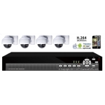 420TVL 4CH channel CCTV DVR Kit Inc. H.264 Network DVR with Mobile Viewing and 4-9MM Varifocal Dome Bracket Cameras with 3-Axis Bracket WITHOUT Hard Drive and Cable