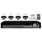 600TVL 4CH channel CCTV DVR Kit Inc. H.264 Network DVR with Mobile Viewing and 4-9MM Varifocal Dome Cameras with 3-Axis Bracket NO Hard Drive or Cable