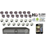 High Definition 28 Camera CCTV Kit 600TVL Varifocal Vandal Proof All-weather IR 30M Cameras accessed by Mobile and Internet