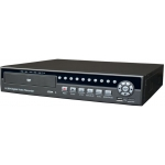 Real Time 8-Channel H.264 Networked High Definition CCTV Video Recorder with PTZ control and mutiple audio and compatible with internal DVD Writer