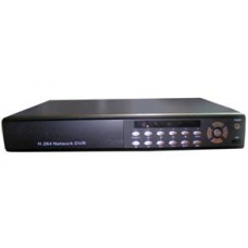 D1 Real Time 4-Channel H.264 Networked High Definition CCTV Video Recorder with PTZ control and multiple audio and alarm input