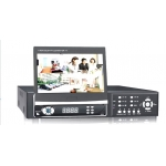 4-Channel Full D1 H.264 Networked High Definition CCTV Video Recorder with 7 Inch Hidden TFT monitor
