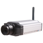 Wireless CMOS 300,000 Pixels Box IP Camera with Wifi E-mail Alert and Mobile Browsing