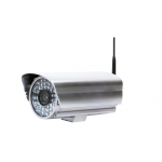 Wireless Outdoor / Indoor Waterproof 2x Optical Zoom Bullet IP Camera 1/4 CMOS with Infrared Mobile Access and Snapshot