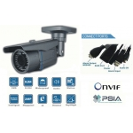 High Definition Waterproof  IP network bullet camera 40 IR Distance  PoE Onvif conformant and IR CUT