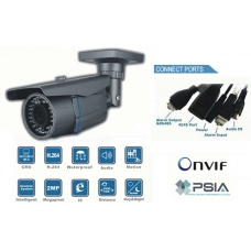 WDR Sensor High Definition Waterproof  IP network bullet camera 40 IR Distance  PoE Onvif conformant and IR CUT