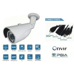 Mega-Pixel 2.0 CMOS Waterproof 6mm IP network bullet camera IR 30M PoE Onvif conformant