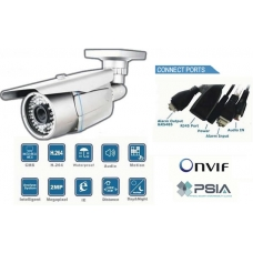 High Definition Waterproof 1/3 SONY CCD 420TVL 4mm IP network bullet camera IR 25M PoE Onvif conformant