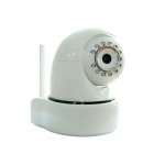 Plug and Play Wireless Pan Tilt IP Camera with Free Mobile App and Wireless Door Alarm