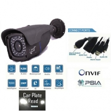 4x Zoom Lens 2 Mega Pixel High Definition Waterproof IP network bullet camera 40 IR Distance PoE Onvif conformant and IR CUT