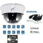 WDR 1 Mega Pixel High Definition IP network Dome camera with IR 20M  PoE Onvif conformant and IR CUT
