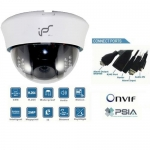 1 Mega Pixel High Definition IP network Dome camera with IR 20M  PoE Onvif conformant and IR CUT