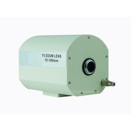 10 300mm f2 4 1 2 c mount motorized zoom long focal cctv for Motorized video camera mount