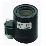 "3.8-10mm 1/3"" F1.6 IR MP M14-Mount Motorized Focus CCTV Camera Lens"