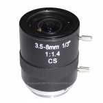 3.5-8mm Mega Pixel CCTV Camera Mini Lens IR Distance 350-950nm