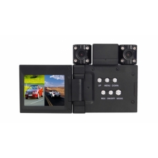 2 Channel Car Mobile DVR With 2.0 TFT LCD Screen and Two Wide Angle Camera