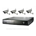 2 Mega Pixel 4CH channel CCTV DVR Kit Inc. H.264 NVR with Mobile Viewing and Waterproof IR 20M Bullet Bracket Cameras