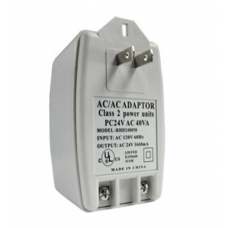 US to EU Power Plug Adapter Converter for CCTV Camera Input AC120V Output AC24V 1.66A