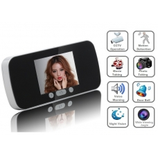 0.3 Mega Pixel 3-Inch LCD Peephole Camera Viewer with Motion Detection Voice Warning Auto Picturing and Filming Functions 140-Degree Viewing Angle