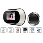 0.3 Mega Pixel 2.8-Inch LCD Peephole Camera Viewer with Motion Detection Voice Warning Auto Picturing and Filming Functions 160-Degree Viewing Angle