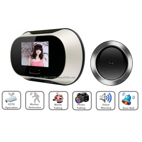0.3 Mega Pixel 2.8-Inch LCD Peephole Camera Viewer with Motion ...