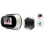 0.3 Mega Pixel 2.8-Inch LCD Peephole Camera Viewer with Auto Picturing 160-Degree Viewing Angle