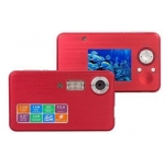 12 MP Mega Pixel High Definition Underwater Diving Scuba Camera Video Recorder DVR 8x Digital Zoom with 2-inch LCD Screen and Flash Strobe Red