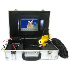 420TVL SHARP CCD 6mm Underwater Scuba Camera with 60ft 20M Cable and LED Light 7-Inch LCD Screen