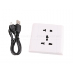 Socket Hidden Spy Camera with Auto Voice Activation