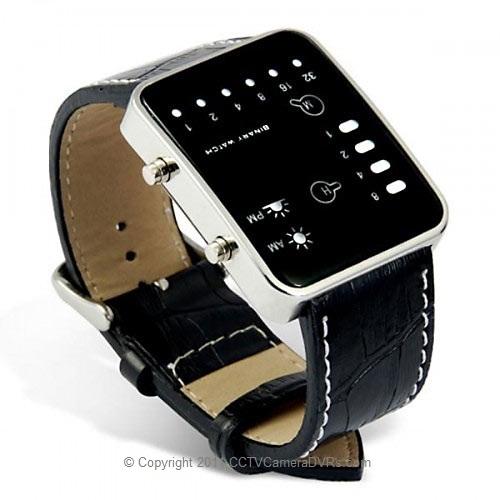 LED Binary Watch Convert Spy Camera and Digital Audio Recorder
