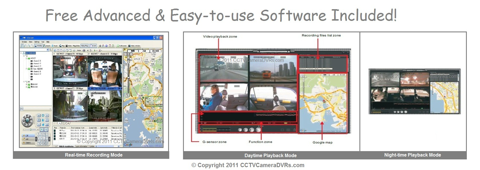 4 Ch Channel H 264 G Sensor E Map Vehicle Mobile Cctv
